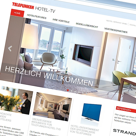 Telefunken Hotel-TV Website
